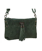Женская замшевая сумка CARLA BERRY зеленый