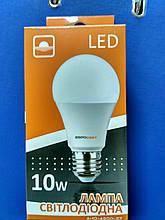 Лампа LED светлодиодная Евросвет 10 Вт, 3000К Е27 куля