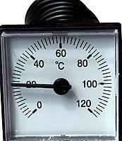 Термометр с выносным датчиком квадратный 45х45мм 0-120°C 1000мм LT151