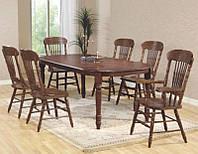 Стол обеденный раскладной, 4278-1 STL, темный орех