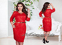 Модное женское платье из стрейчевого жаккарда  размер 50-60