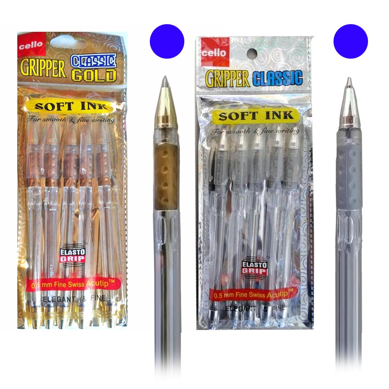 Ручка  CELLO CLASSIK СЕРЕБРО / ЗОЛОТО EL-532, синий стержень