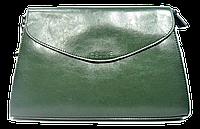 Стильная женская сумка CELINE из натуральной кожи зеленого цвета на цепочке FSS-002113