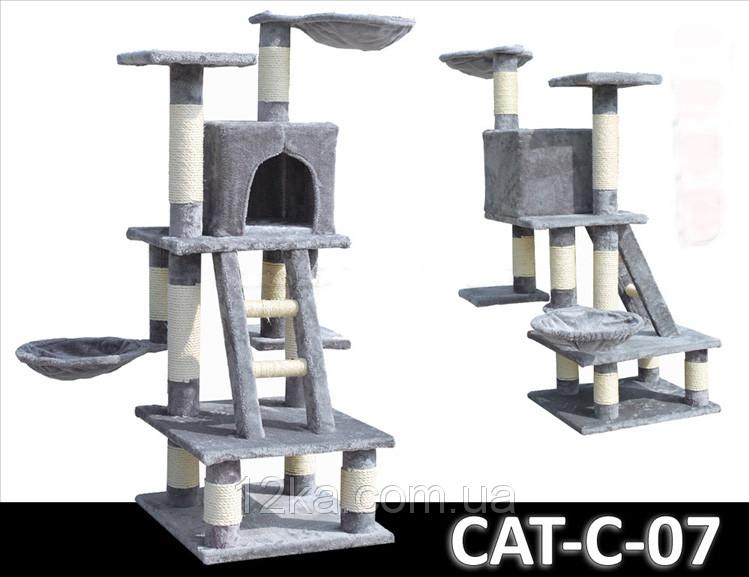 Когтеточка, домики, дряпка для кошек C-07 116 см