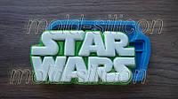 """Силиконовый молд """"Надпись Стар Варс STAR WARS (Звездные войны)"""""""