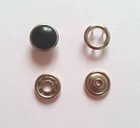 Кнопка 10,5 мм жемчужина черная