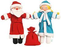 Набор Дед Мороз и Снегурочка экологичные игрушки