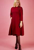 Новогоднее женское платье большего размера вишня