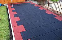 Резиновая плитка уличная. Толщина 20 мм (1000 на 1000 мм)