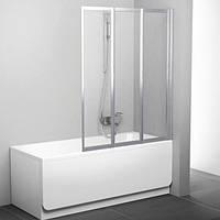 Шторка для ванны Ravak 130 см VS3 130 белый+grape 795V0100ZG