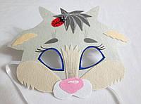 Карнавальная маска Козленка белого