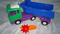 """Детская машина """"Автоскрепер"""" ,570x250x170 мм с пасочкой и лопаткой.Машинка игрушечная Грузовая машина Автоскре"""