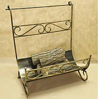 Дровница №9 кованая. Подставка для дров, фото 1