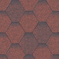 Битумная черепица Aquaizol Мозаика Красная микс