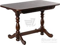Обеденный деревянный стол стиль классический раздвижной темный орех 160 см