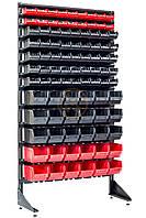 Витринный стеллаж с 93 ящиками односторонний