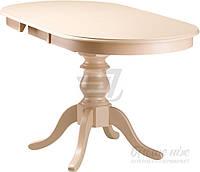 Обеденный деревянный стол стиль классический раздвижной бежевый 160 см