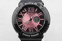 Женские спортивные часы Casio Baby-G BGA-160 Black - Rose