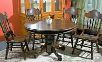 Обеденный стол HNDT-4872 SWC, круглый раскладной стол, столешница инкрустирована шпоном