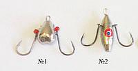 """Мормышка зимняя ударная""""Ракушка""""(яйца) на японских крючках"""