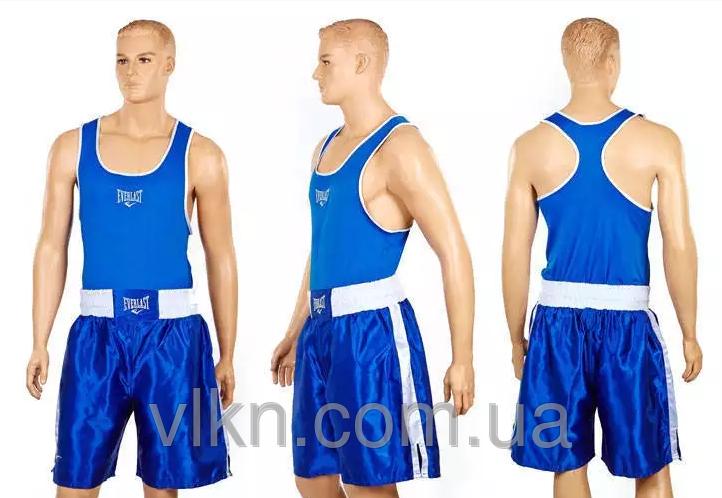 Форма боксерская ELS MA-6011-B(M) ((полиэстер, р-р М-46-48, майка синий, шорты синий)