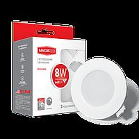 Светодиодный диммируемый точечный светильник MAXUS LED SDL mini 8W 3000K (1-SDL-005-01-D)