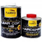 Farbid premium Лак акриловый прозрачный HS 1л + отвердитель 0,5л