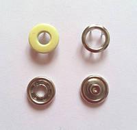 Кнопка 10,5 мм - № 109 желтая бублик