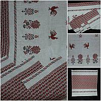 Комплект из скатерти и салфеток на льне (р-р стола 2,2х1,5м), 390/350
