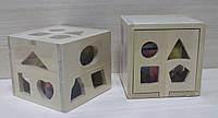 Деревянная игра Куб-Логика в коробке 14*14*12 см