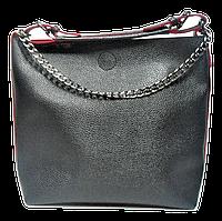 Симпатичная женская сумка из искусственной кожи черного цвета KKY-102471