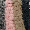 Женский шарф из кролика. Цветные