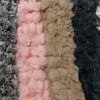 Женский шарф из кролика. Цветные, фото 1