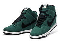 Зимние женские кроссовки Nike Dunk Sky Hi green