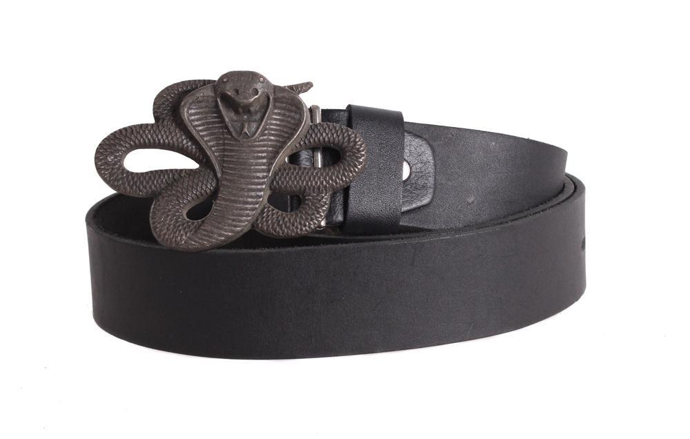 Мужской ремень из натуральной кожи под джинсы blx90340 черный