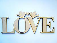 """Слова из дерева """"Love голуби"""""""