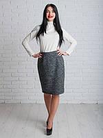 Теплая шерстяная юбка с подъюбником
