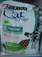 Cat Chow(sterilised) корм для стерилизованных кошек и котов .1.5кг
