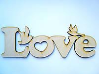 "Слова из дерева ""Love ласточки"""