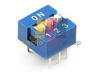 Микропереключатель движковый для печатн. монтажа  8 позиций smd