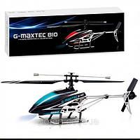 Вертолет на радиоуправлении 2.4 GHz одноосный 4 канальный helicopter G-MAXTEC 810. Пульт LCD экран