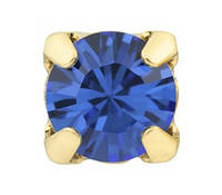 Стразы в золотых цапах Swarovski 17704 Gold Plated Sapphire