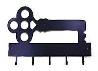 Вешалка-ключница Ключик серый