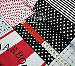 """Ткань хлопковая """"Винтажный пэчворк"""" серо-красного цвета, № 547, фото 3"""