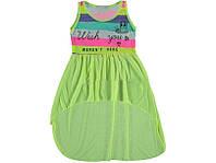 Летний Сарафан для Девочки Цвет Лимонно Желтый Рост 110-140 см
