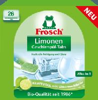 Таблетки для посудомойки бесфосфатные Frosch Limonen 26шт
