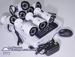 Комплект системи відеонагляду Green Vision GV-K-G03/08 720Р