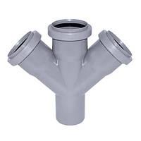 Крестовина канализационная Европласт 110x110x110 мм 45°