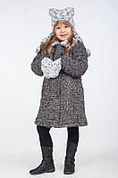 Зимнее шерстяное пальто для девочки, размеры 30, 32, 34, 36. (арт.К-117)