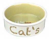Trixie TX-24493 миска для кота (керамика) 0.3л/12см